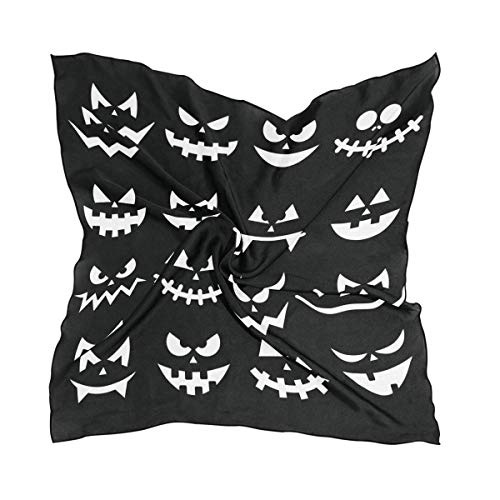 Aeykis Womens Scary Halloween Pumpkins Silk Feeling Quadratischer Schal Satin Neck Scarves Head Hair Wraps -