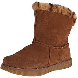 Skechers AdorbsPolar - Zapato Botín de Piel Mujer, Marrón (csnt), 40