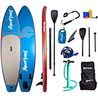 """AQUAPLANET all age's SS002 Inflatable Paddle Board, Blue & Red, 10ft 6"""""""