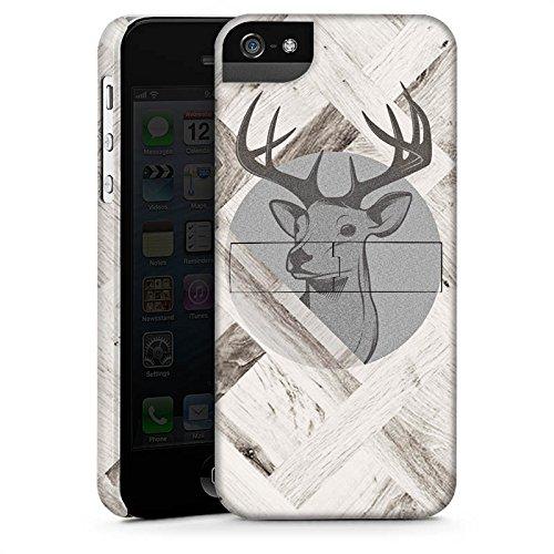 Apple iPhone 6 Plus Silikon Hülle Case Schutzhülle Hirsch Holz Wald Premium Case StandUp