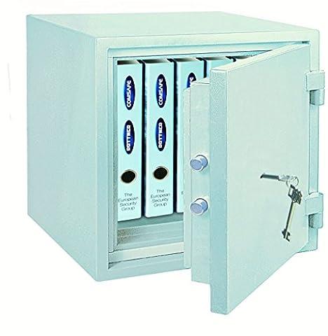 Rottner Feuersicherer Dokumententresor Fire Safe 40, 1 Stück, lichtgrau, T06017