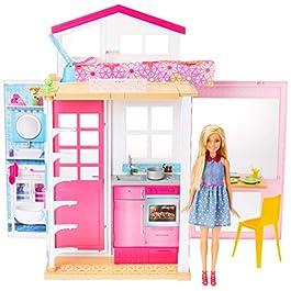 Barbie- Casa Componibile con 2 Piani e Tanti Accessori Trasformabili, Multicolore, DVV47