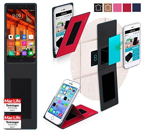 reboon Hülle für Elephone P9000 Lite Tasche Cover Case Bumper | Rot | Testsieger
