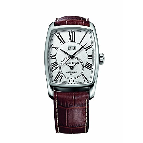 Louis Erard 1931 94210AA21.BDC52 34mm Automatic Stainless Steel Case Brown Calfskin Anti-Reflective Sapphire Men's Watch