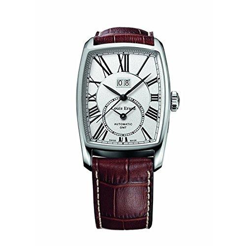 Louis Erard 1931 94210AA21.BDC52 34mm Automatic Stainless Steel Case Brown Calfskin Anti-Reflective Sapphire Men's Watch