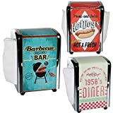 RETRO STYLE 100 NAPKIN DISPENSER SERVIETTE KITCHEN BAR RESTRUANT PARTY NEW HOME (1950's DINER)