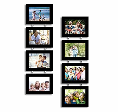 Painting Mantra Impressive Drop Synthetic Photo Frame (72.01 cm x 5 cm x 19.99 cm, Set of 8)