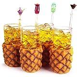 Piña gafas 10oz/285ml–juego de 4–Caja de regalo Retro hawaiano cóctel vasos
