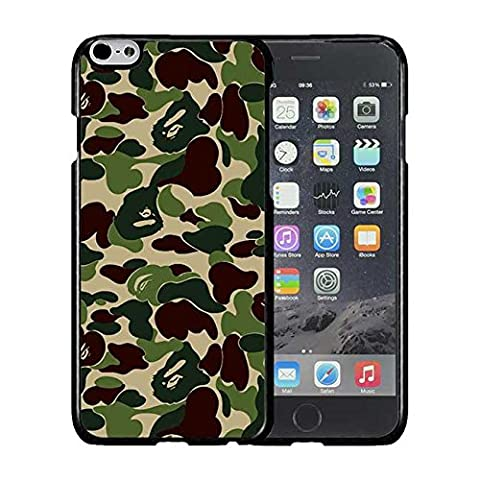 Iphone 6S Coque / Etui Case, Bape Camo Pattern Hard Shell Printed Plastique Skin Cover Extra Slim Compatible with Iphone 6S 6 [4.7 Pouce]