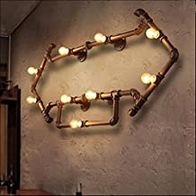 Viento industrial creativo país americano Retro decoradas Bar tubos flecha pared