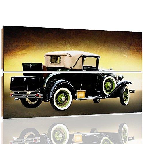 Feeby. Wandbilder - 2 Teile - 120x80 cm - rechteckige Form Bilder Kunstdrucke Deko Panel AUTO, FORD, AUTOMOBIL, BRAUN