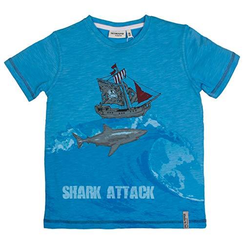 SALT AND PEPPER Jungen T-Shirt Pirates Print T-Shirt,per Pack Blau (Sky Blue 439),104 (Herstellergröße: ()