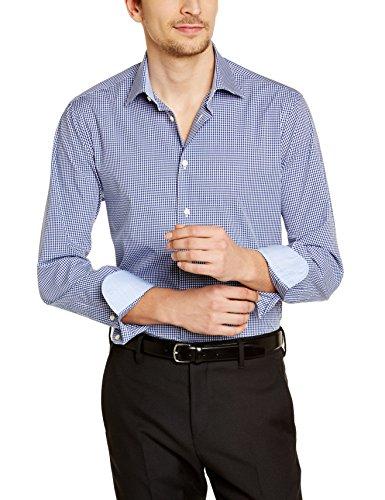 Tommy Hilfiger Tailored JHN SHTCHK99002 - Chemise habillée - Coupe droite - Manches longues - Homme Bleu (425)