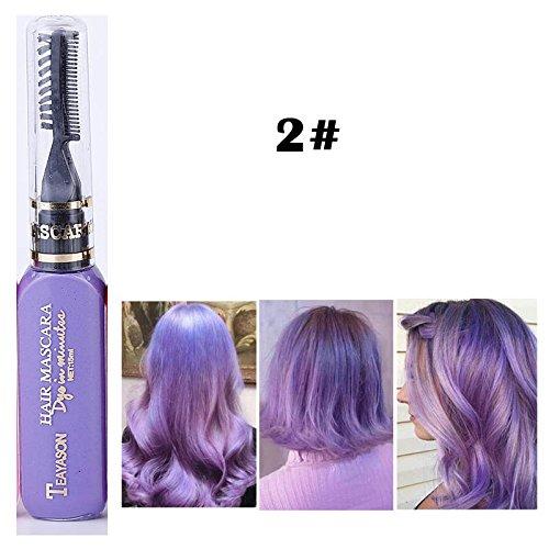DIY Langlebige Temporäre Schimmer Haar Farben Creme mit Kämme Haare Färben Kreide Haartönungen Lila