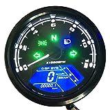 KKmoon - Tachimetro per moto, display digitale LCD, 0-12000 giri/min, contachilometri