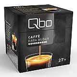Qbo Kapseln - Caffè Baba Budan (Kaffee, vollmundig, Anklänge von Getreide und dunkler Schokolade mit ausdrucksstarke Röstnoten, 60% Arabica, 40% Robusta) (8x27 Kapseln)