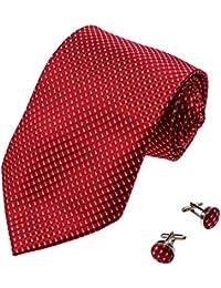 YAB1F04 Varios de los colores a cuadros Compra de regalos para hombre corbata de seda 2PT por Y&G