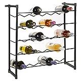 Metal Free Standing Stackable Wine Rack to fit 30 or 60 Bottles by EG Homewares