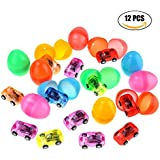 12pcs Easter Eggs surprise Prefilled Pull Back Vehicles Toy for Hunt Gifts Children Kids Creative DIY Toys Game for Easter Birthday Festival Party Supplier