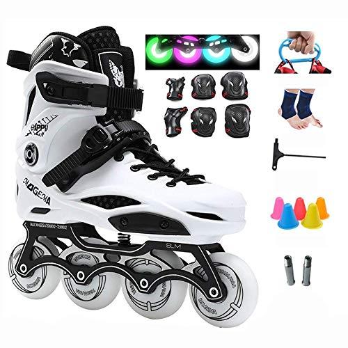 PIAOL Inline-Skates Jugend-Skates Flash-Rad-Rollschuhe PU-Gummi-Rad-Rollschuhe,D-40CM