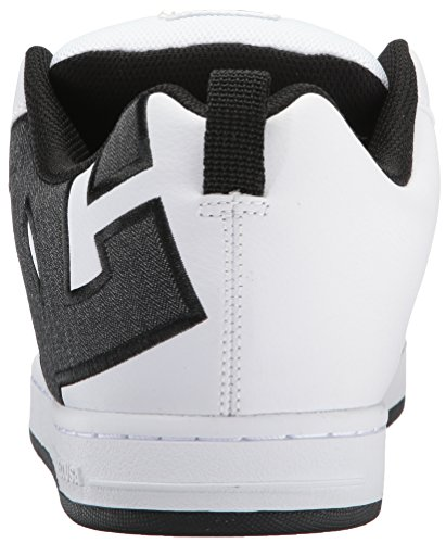 Dc Shoes Chase Chaussure D0302100, Sneaker Uomo Blanc / Charcoal
