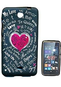 Housse Coque pour Microsoft Lumia 430 motif Amour