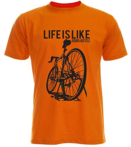 PALLAS Unisex's Cycling Life Is Like Riding A Bicycle Orange
