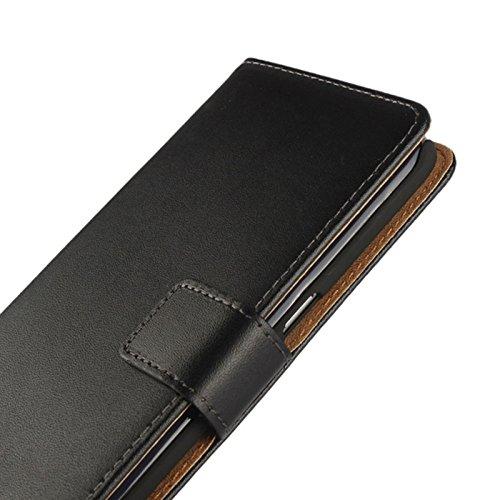 eximmobile–Book Case per Apple Iphone con carta di credito in Apple iPhone Cellulare  schutzhuelle in pelle PU   Cellulare tasche come Flip Case Cover, Custodia di protezione   alta qualità PU Porta nero