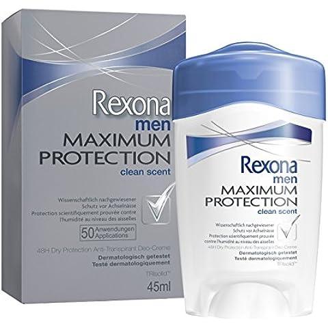 Rexona Maximum Protection Clean Scent 45ml - desodorantes (Hombres, Antitranspirante, Desodorante en barra)
