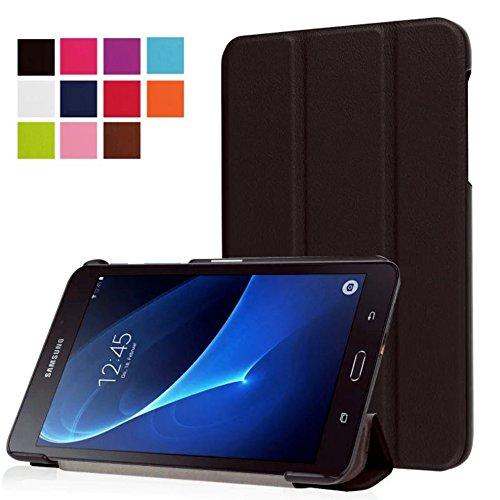 Tasche für Samsung Galaxy Tab A SM-T280 7.0 Zoll Schutz Hülle Flip Tablet Cover Case SM-T285 (Schwarz) NEU