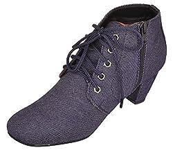 Exotique Womens Blue Casual Boot (EL0054BL_38)