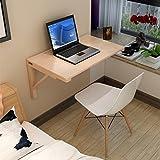 Drop-leaf Table Massivholz Wandtisch klappbar Esstisch gegen die Wand Computer Schreibtisch Learning Tisch Kinder Tisch Schreibtisch, Holz, 80 * 60cm