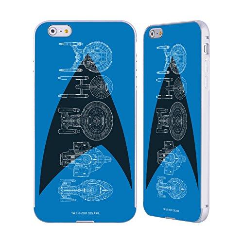 Ufficiale Star Trek Delta Completo Vascelli Della Linea Argento Cover Contorno con Bumper in Alluminio per Apple iPhone 5 / 5s / SE Delta Completo