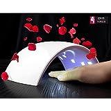 Cris Nails ® Secador de Uñas 24W Lámpara LED SUN 9S Profesional con Temporizador para UV Gel / Gel de Constructor / LED Gel Luz Blanca (Blanco)