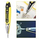 EXQUISITE - Bolígrafo de prueba eléctrica AC/DC con detector de voltaje 12 – 250 V con indicador de luz