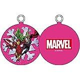 Marvel personnages flocon neige–Boule de Noël, couleur ROSE