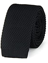 Cravate tricot NOIR uni