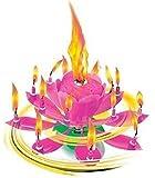 """Musica Candele fiore rosa Alles Gute per il compleanno con Fontana e musica candele Decorazione per torte Fontana di nozze 14 candele con il noto Melodia """"felice ="""" """"compleanno"""" """"="""""""