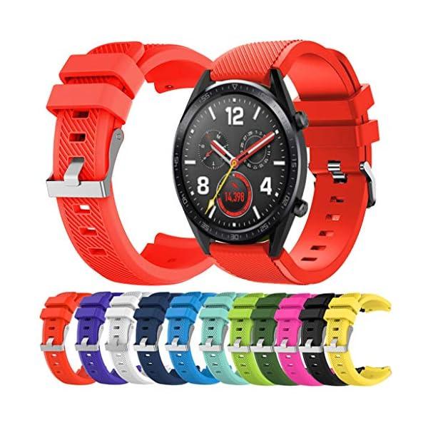 Correa para Reloj Huawei GT/GT2 Smartwatch 22mm /46mm para La Muñeca con Correa De Reloj De Silicona De Repuesto Correa Deportiva De Silicona 1