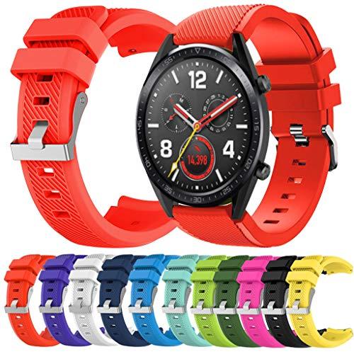 Correa para Reloj Huawei GT/GT2 Smartwatch 22mm /46mm para La Muñeca con Correa De Reloj De Silicona...