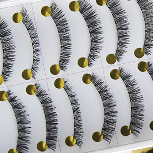 Taiwan handgemachte falsche Wimpern Wimpern Baumwolle Vorbauten/Schwarz Vorbauten (Schwarz)