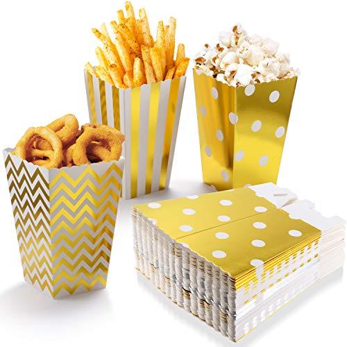 POAO Popcorn Boxen, Pappe Candy Container Partytüten Behälter für Party Geburtstag Hochzeit Geschenk,12 x 7CM (100 Stück) (Kleine Popcorn-boxen)