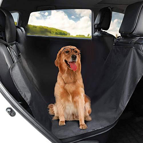 Cubierta de Asiento Universal para Perro Mascota Funda Protectora de Asiento Impermeable de Tapicería de Coche para Perro para Viaje, Manta Plegable de Coche para Mascota 130cm * 145cm - Negro