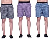 #7: ZOLDY Pack Of 3 Multi Color Cotton Checked Boxers