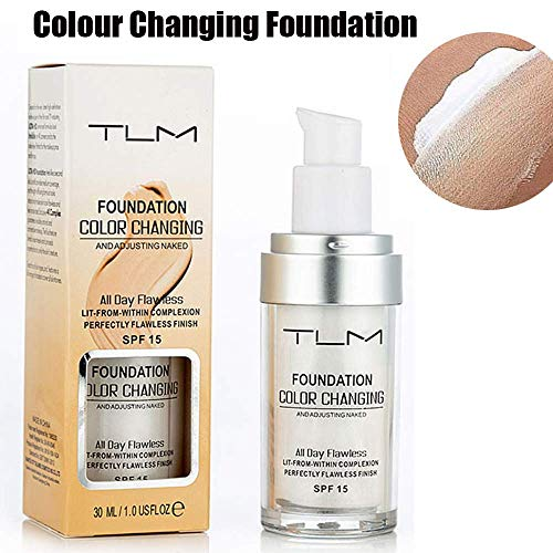 TLM Concealer Cover, 30ml Concealer -Abdeckung Flawless Farbwechsel Warmer Hautton Foundation Makeup Liquid Concealer -