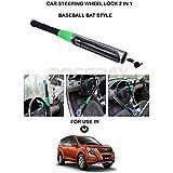 Volga Car Steering Wheel Lock Cum Self Defense Baseball Bat For Mahindra Xuv 500 New