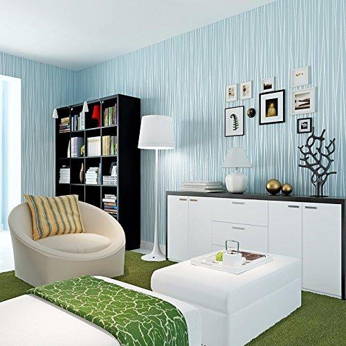 JSLCR Einfache moderne Streifen solide einfarbigen Hintergrund Tapete home Beauty-Salon Barber Shop Kleidung speichern Tapeten,Hellblau