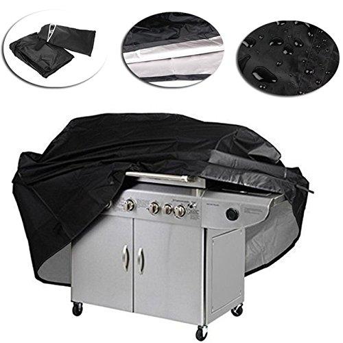 Diu grande copertura nera per barbecue accessori per barbecue grill impermeabile barbeque antigas gas carbone esterno pioggia borsa elettrica m 145x61x117 cm a