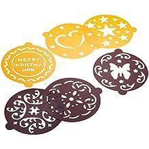 Pedrini 03GD204 6pieza(s) Superior plantilla de decoración para tartas - Plantillas de decoración