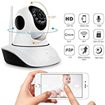 ZTE Sonata 4G compatible Wireless HD IP Wifi CCTV [Watch ONLINE DEMO right now] indoor Security Camera (support upto 128 GB SD card) (white Color) Model:D8810 by moblios